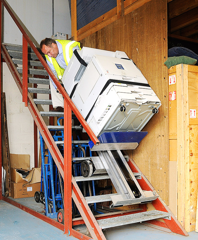 Business relocation services and storage